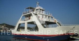 DOUBLE ENDED DAY PASSENGER-CAR-TRUCK FERRY w/double bottom