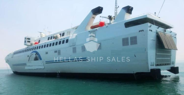 High speed roro passenger vessels x 2 for sale