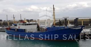 DE-COMMISSIONED ex BEAM TRAWLER – now TENDER FOR OFFSHORE WORKS / PLEASURE VESSEL!!!