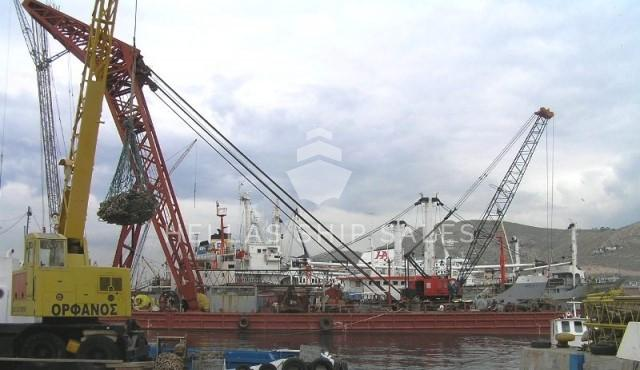 Derrick Barge Floating Crane Rina C Pontoon Crane For Sale